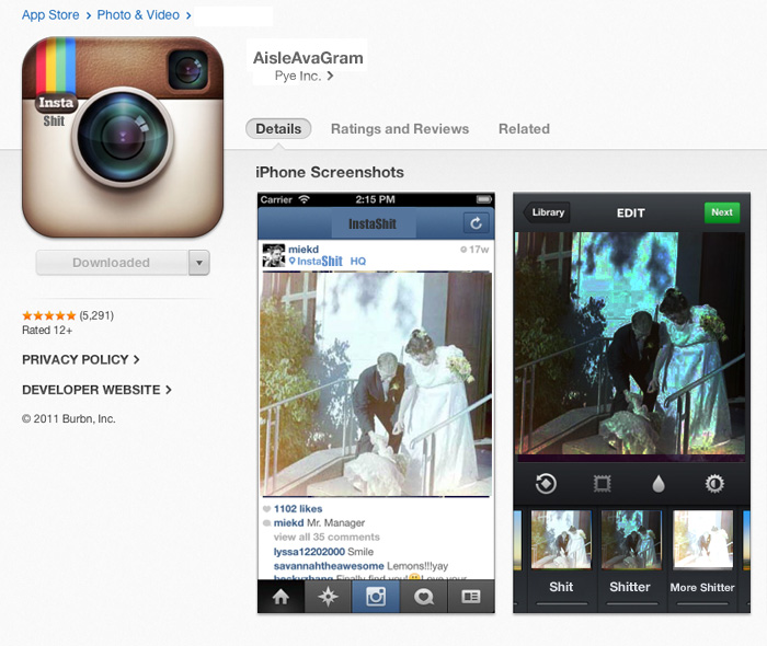 aisleavagram - the photo editing app